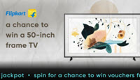 Flipkart Cred Offer: Spin Using 1000 Cred Coins & Get A Chance To Win 50 inch Frame TV or 2000 off Coupon on TV