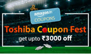 Toshiba Coupon Fest Get Up to Extra ₹3000 Coupon On TV Extra 10% Instant Discount With SBI Credit Card - Amazon