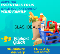 Flipkart Quick - 90 Mins Fresh Fruits & Vegetables Delivery