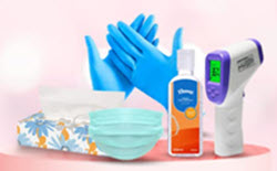 Personal Safety Supplies Masks, sanitizers & more Starting at Rs.99 - Amazon