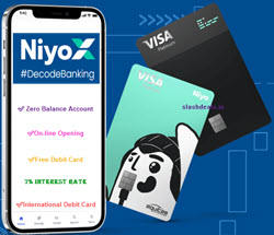 Niyo Bank Account Opening : Get Free Lifetime Premium Platinum Visa Debit card + 7% Interest Zero Saving account