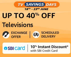 Amazon TV Saving Days | SBI Bank Discount Up to Rs.1750 Off