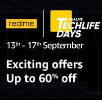 [13th-17th September] Amazon Realme Techlife Days Sale