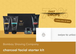Cred App Loot: Bombay Shaving Company Activated Charcoal Facial Starter Kit at Rs.210