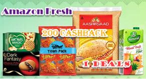 Amazon Fresh ₹200 Cashback Offer | 1 Re Deals, Coupon Code, Bank Offer