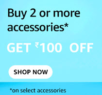 Buy 2 or more Accessories and Get Extra Rs.100 off | Amazon Coupon offers